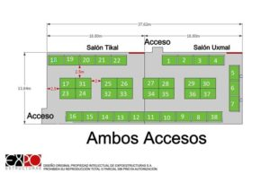 Distribución 38 stands expo